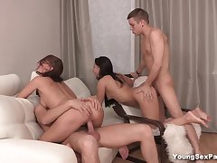 Young Sex Parties - Cherry - Kristall Rush - Making selfies and fucking